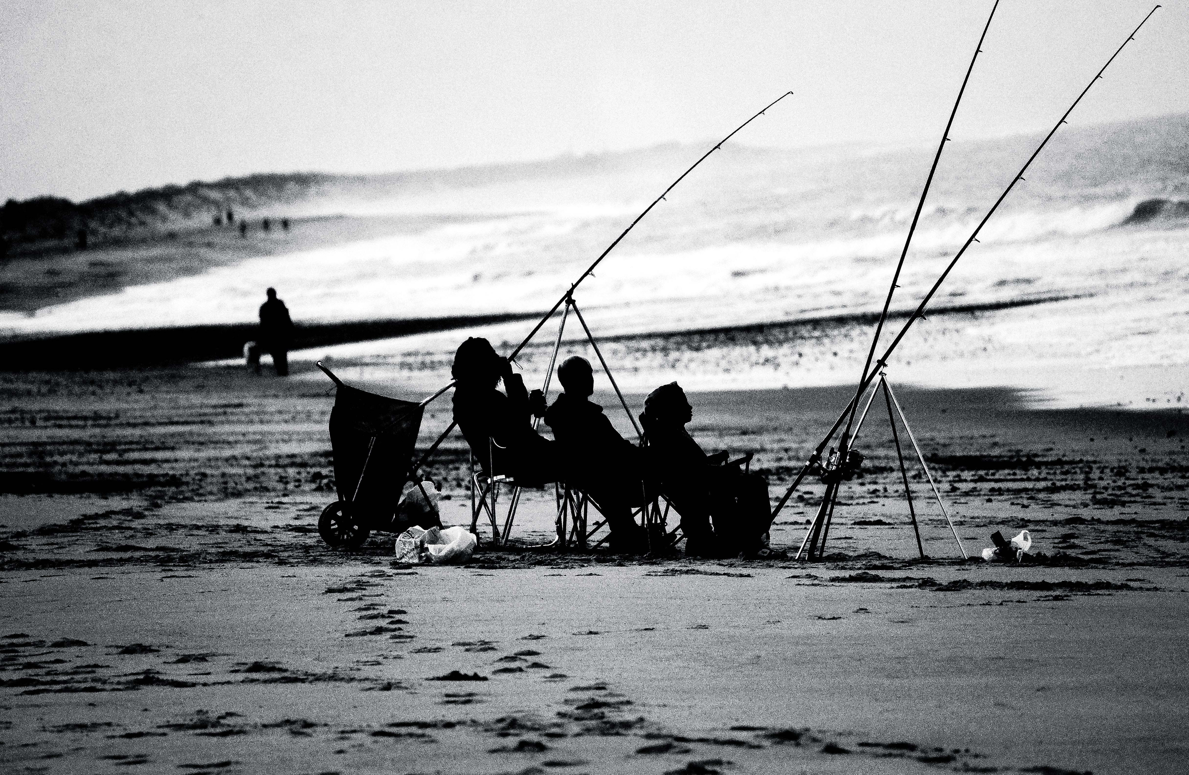 Beach Fishing by Samuel-Benjamin