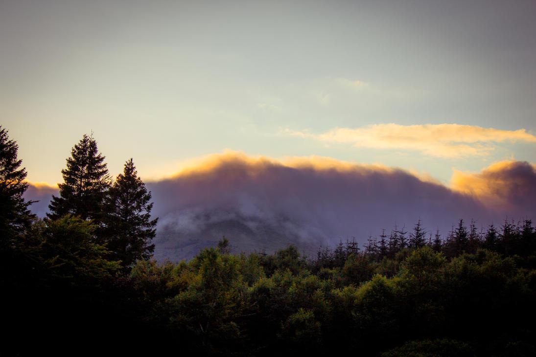Wales Snowdonia Frozen Cloud Sunset 3 by Samuel-Benjamin