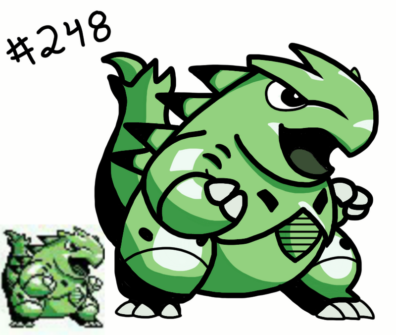 Tyranitar N 248 ( Green Sprite) By Missingno-54 On DeviantArt