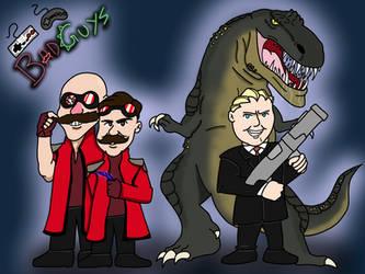 Dr. Robotnik and President Koopa by Missingno-54