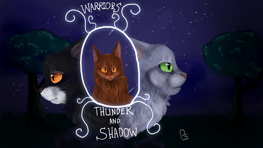 Thunder And Shadow Book Cover redesign challange by leafdawgs