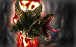 Green dragon doodle
