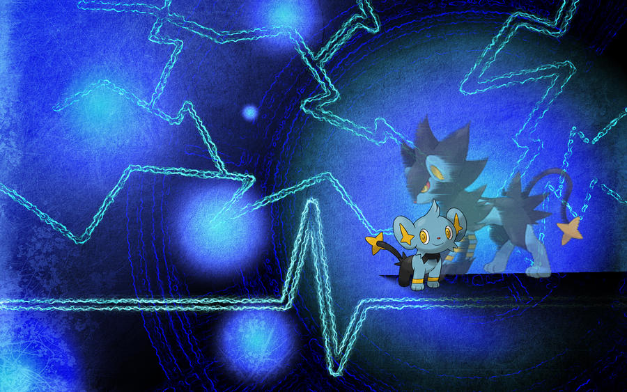 Shinx And Luxray Wallpaper By Super Bastard