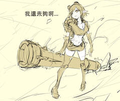 [LOL]Tristana in human by beanbeancurd