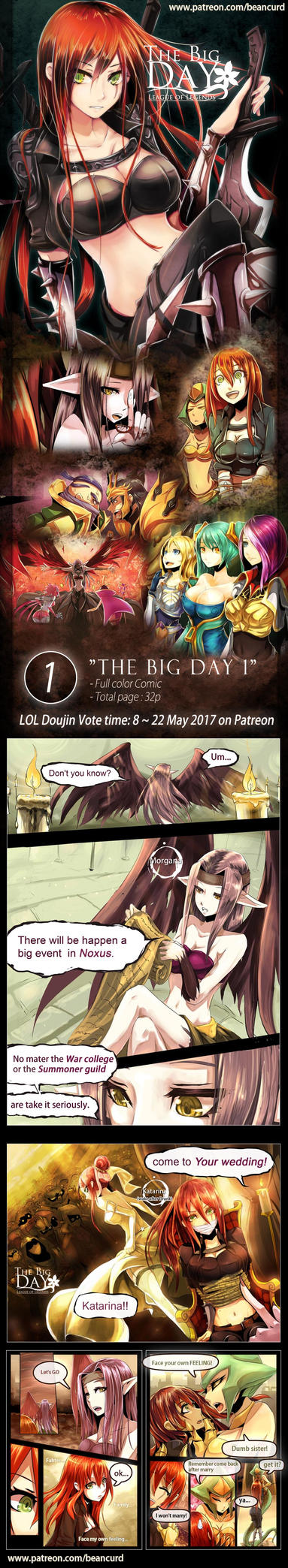 Doujin translate voting : No.1  THE BIG DAY 1 by beanbeancurd