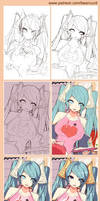 [LOL] Annie's family 21 (Preview step drawing)