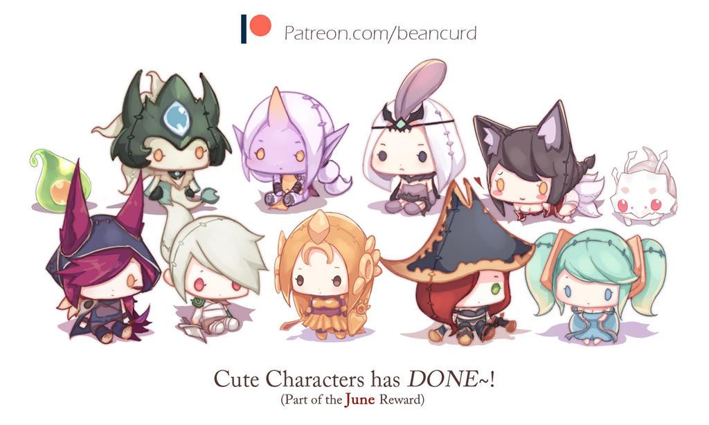 June reward - Cute character by beanbeancurd