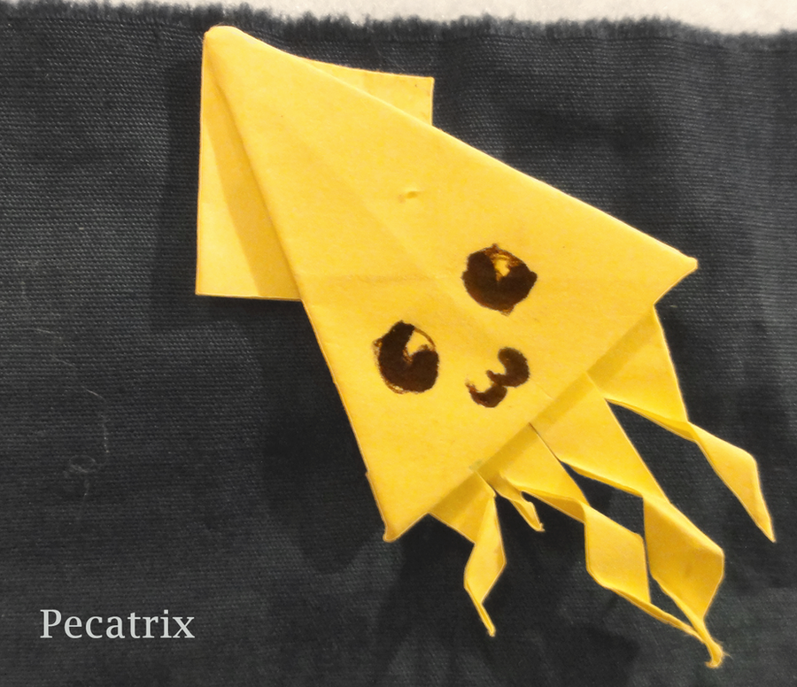 Sticky Note Origami Squid By Pecatrix On Deviantart