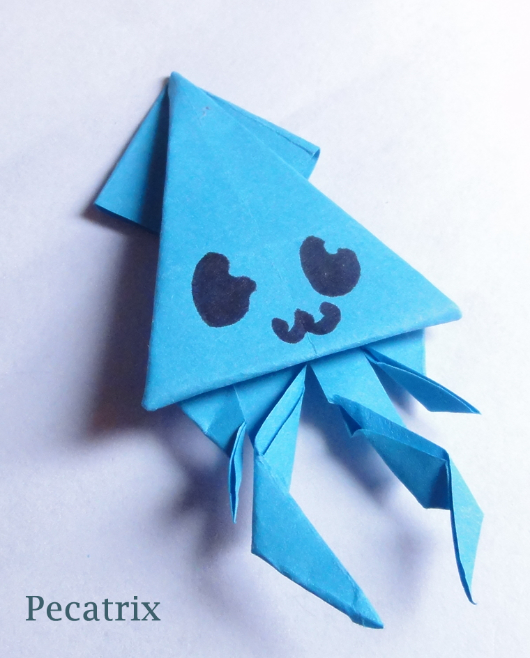Blue Sticky Note Origami Squid By Pecatrix On Deviantart