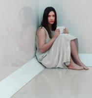Isolation: Portrait in white by Les-Allsopp