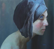 Woman with turban: portrait by Les-Allsopp