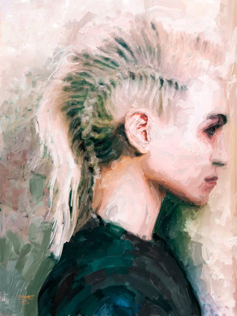 Female portrait no 5 by Les-Allsopp