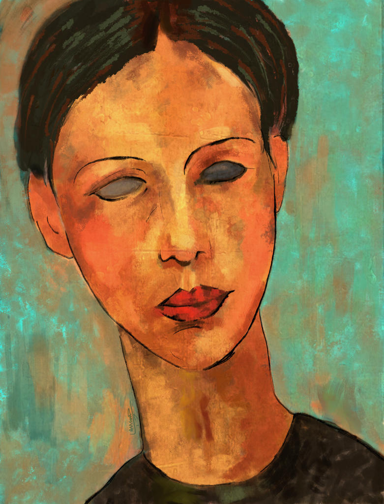 Homage to Amadeo Modigliani by Les-Allsopp