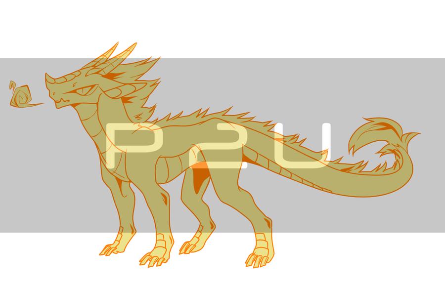 [P2U] Semi-chibi Dragon Base by Nishipu