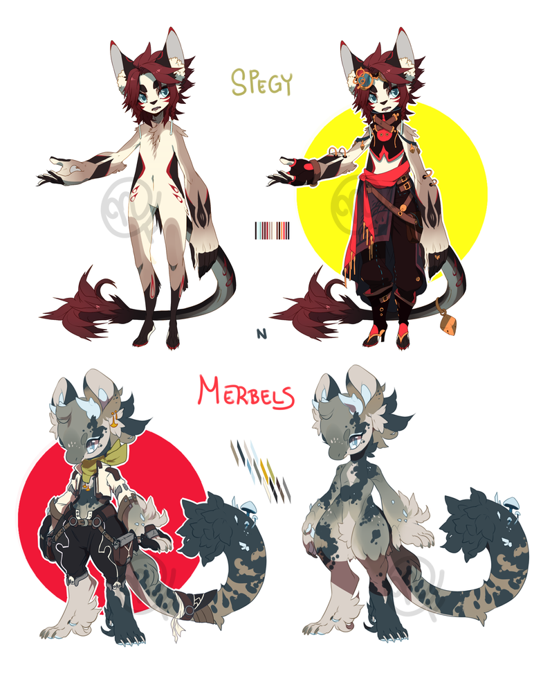 Nisios Collab: Spegy N Merbels Auction [CLOSED] by Nishipu