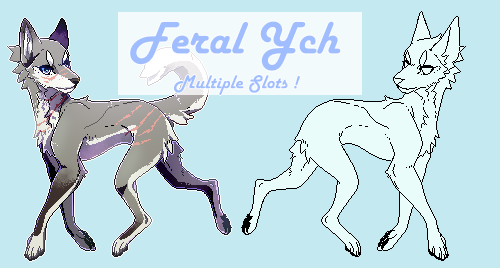 Feral Pagedoll YCH - Multiple slots open ! by Nishipu
