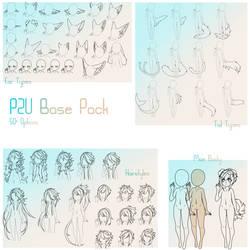 P2U Chibi Humanoid Base pack by Nishipu