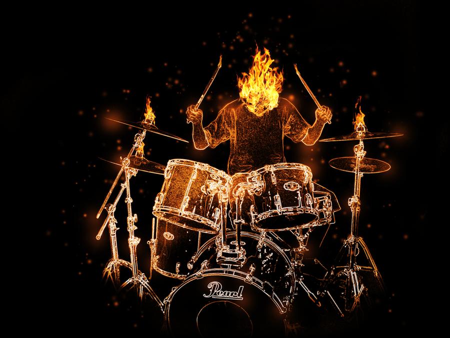 Drums On Fire By Dandimann46 On DeviantArt