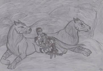 Kel and Fer as Orks Sketch by Naturgeist93