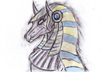 Anubis present for Kel by Naturgeist93