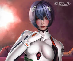 Rei Ayanami by admdraws