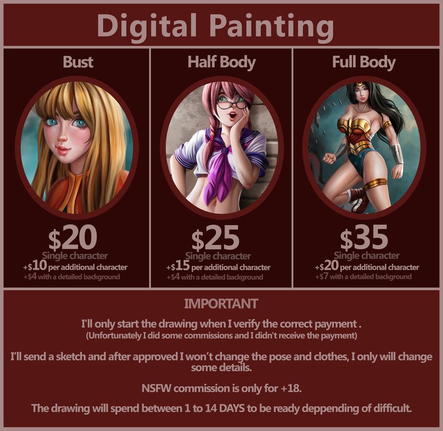 Commission Prices by admdraws