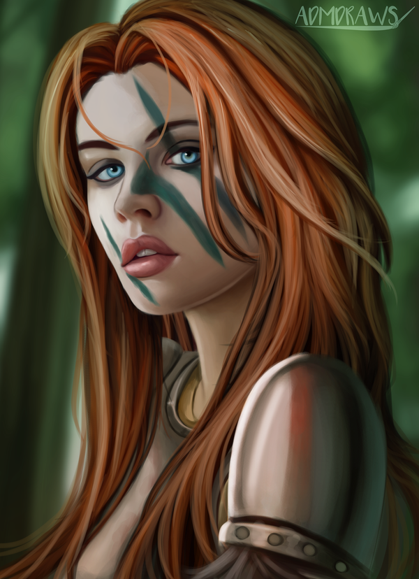 Warrior by admdraws