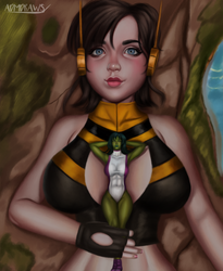 Wasp and She Hulk by admdraws