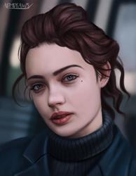 Girl Portrait by admdraws