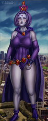 Commission - Giantess Raven and Starfire by admdraws
