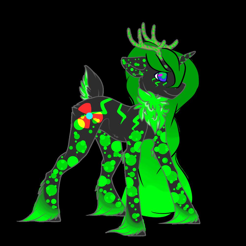 Vorsicht the Raidoactive Unicorn Deer by Darumemay