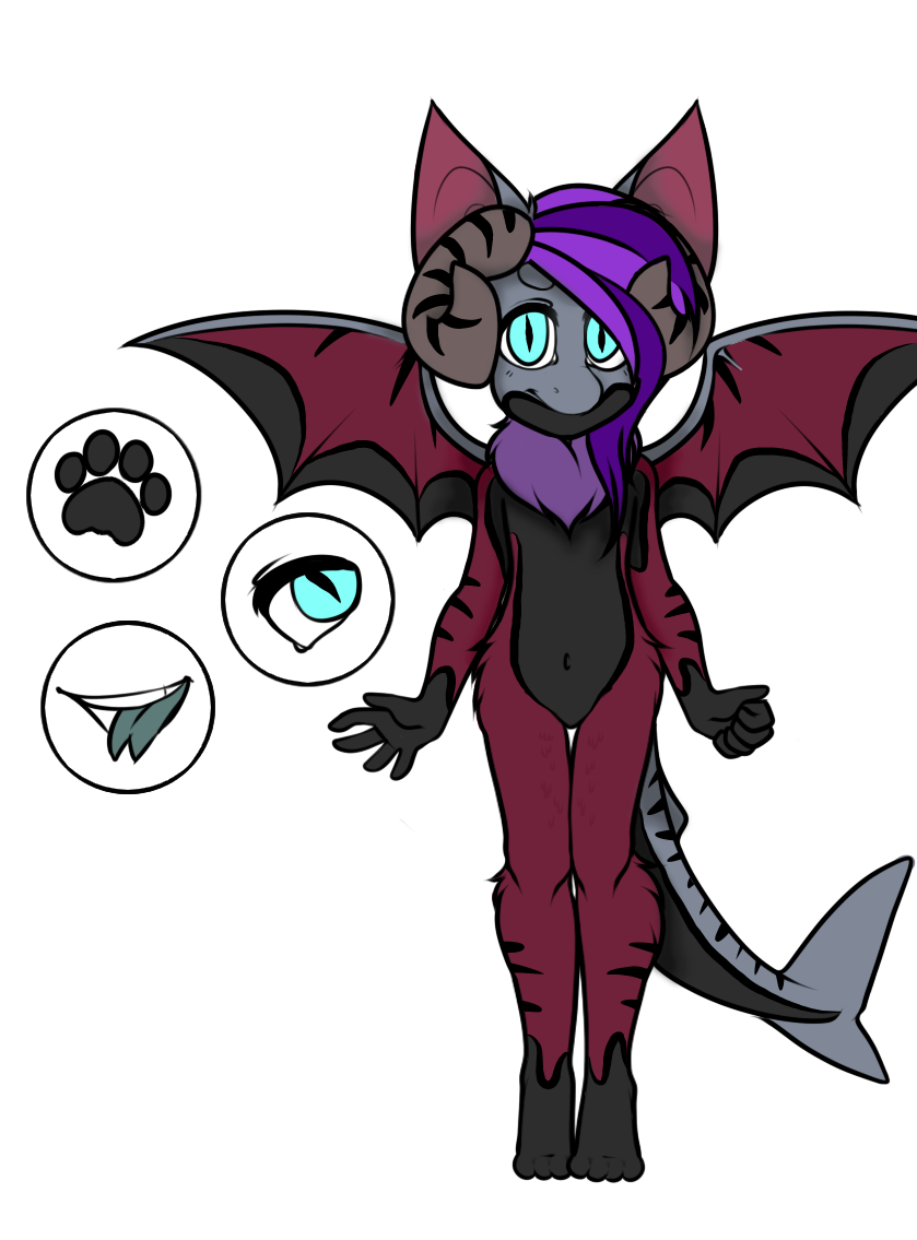 OTA Shark Bat Dragon mix CLOSED by Darumemay