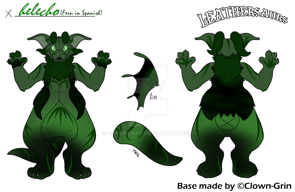 Helecho my newest Leathersaur  by Darumemay