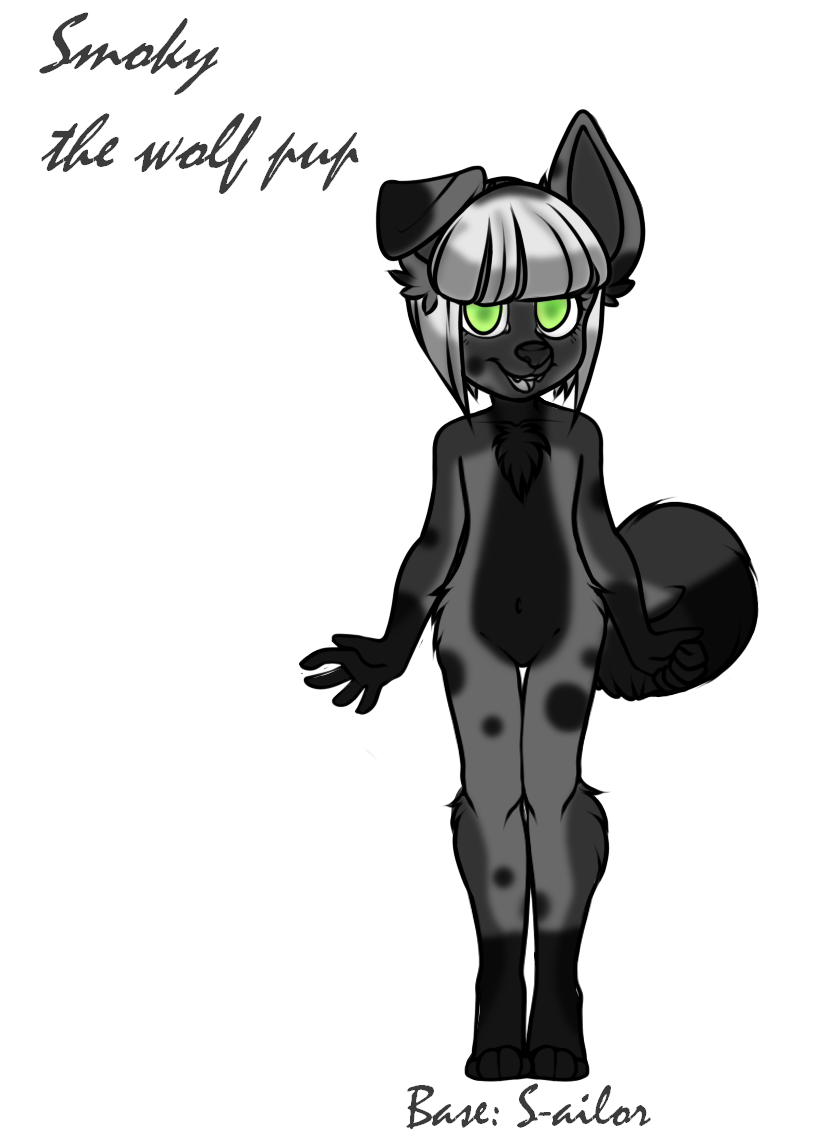 Smoky the wolf pup by Darumemay