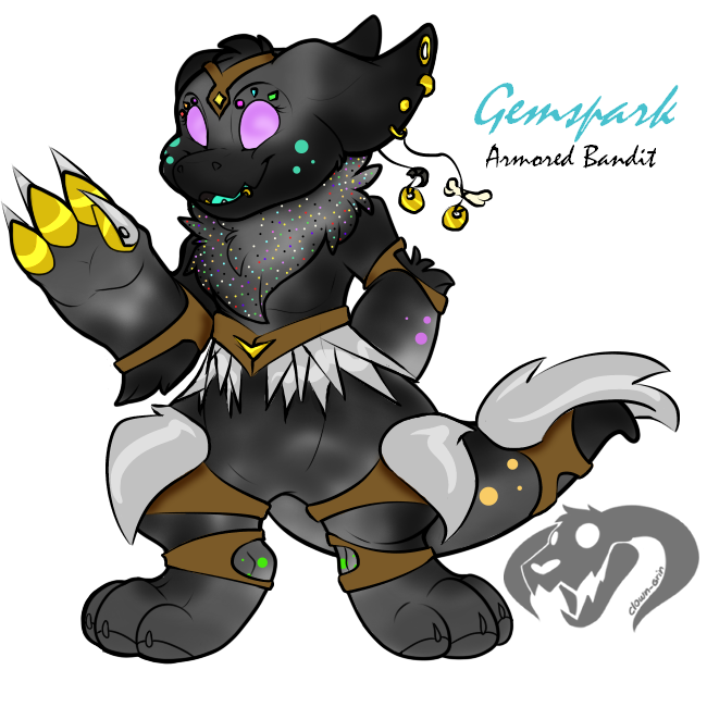 Gemspark the Armored Bandit Wickerbeast by Darumemay