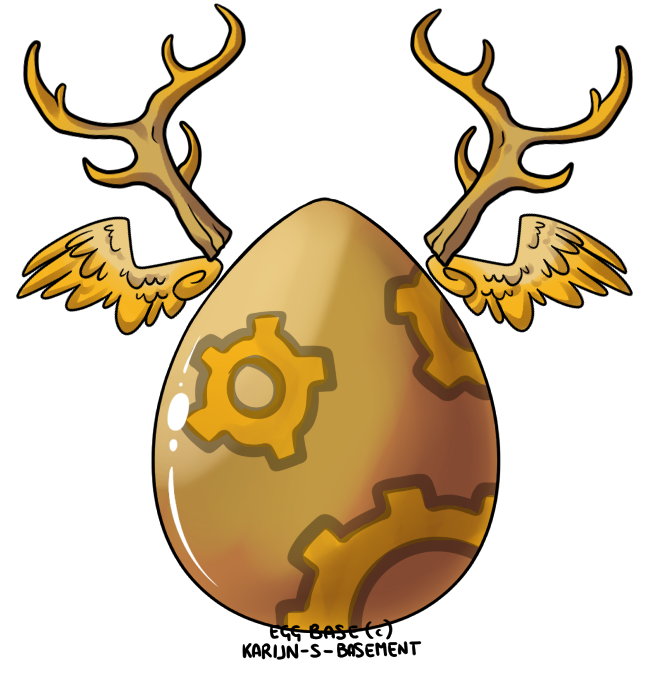 Gear Deer Angel Egg Auction CLOSED by Darumemay