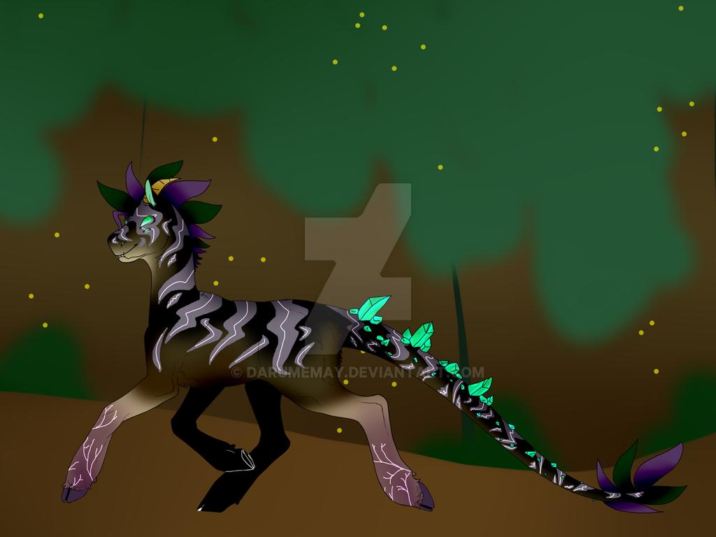 Zed the Demon Zebra by Darumemay
