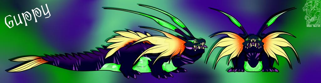 Gooper a female Guppy Basilisk by Darumemay