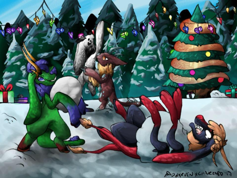 Flumples winter fun by Darumemay