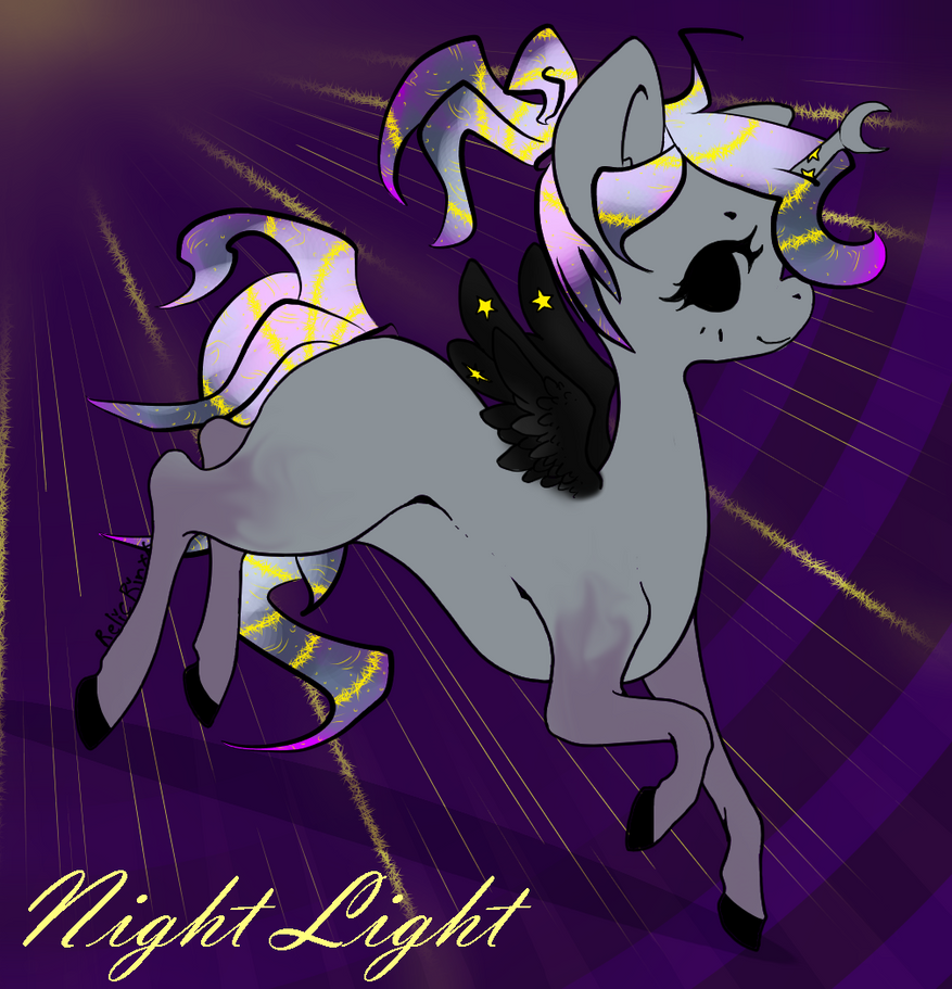 Night Light the Dreamer pony by Darumemay