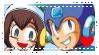 Mega Man x Carol Stamp by NikkiCrystal