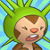 Pmd Chespin icon (hitted/shouting) by Charly-sparks