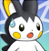 pmd Emolga icon (shocked) by Charly-sparks