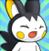 pmd Emolga icon (shouting/getting hitted)