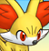 Pmd Fennekin icon (talking/looking,i dunno...) by Charly-sparks