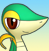 PMD snivy icon (neutral / light smile) by Charly-sparks
