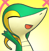 PMD snivy icon (happy) by Charly-sparks