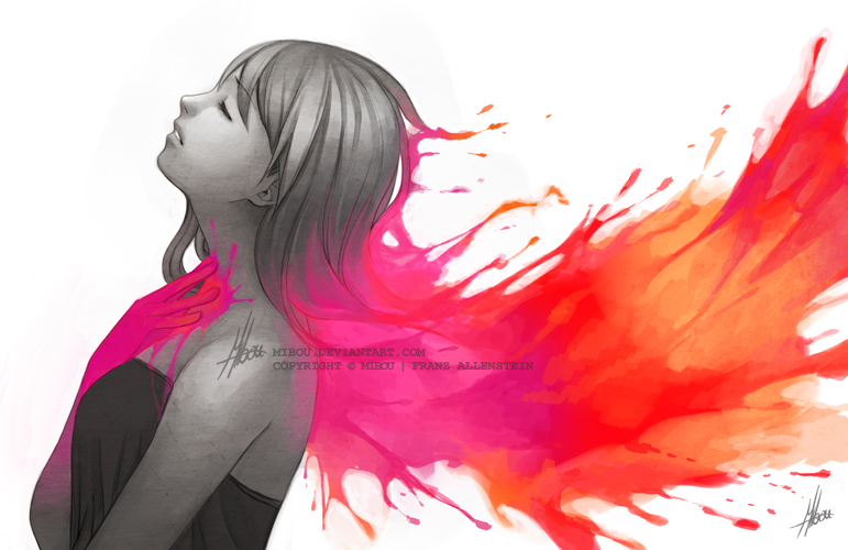 Розовое аниме