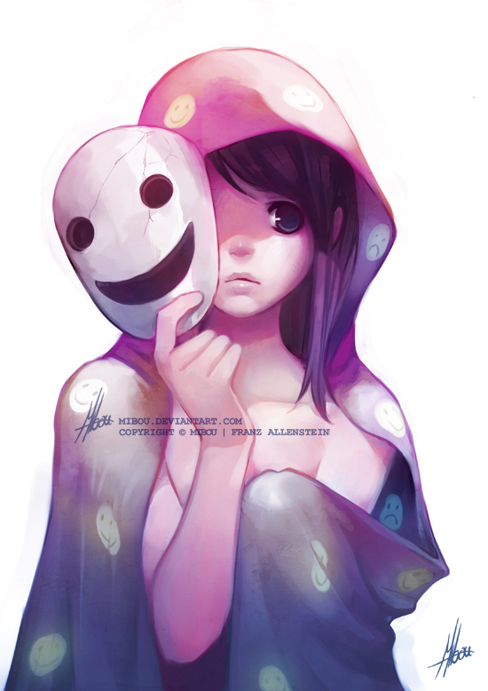A smile as a mask - Mibou, DeviantArt