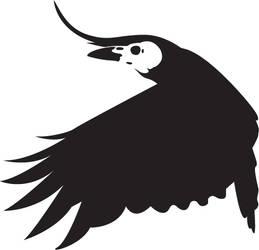 Skulled Crow by KitsuneSam
